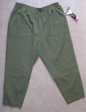 NWT BRIGGS Blue Green PULL-ON POLYESTER PANTS 24W 22W SHORT 10P 8P Leg26 or 27