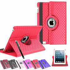 3D Diamond Leather 360° Rotating Stand Case Cover For iPad Mini & iPad Mini II