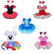 Vintage Girl Minnie Mouse Birthday Party Costume Kid Ballet Tutu Fancy Dress Up