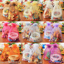 100 pieces Sheer Organza Wedding Party Favor Decoration Gift Candy Bags Pouches