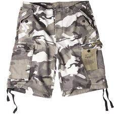 Paratrooper Cargo Army Style Mens Military Shorts Washed US Urban Camo : S-XXL