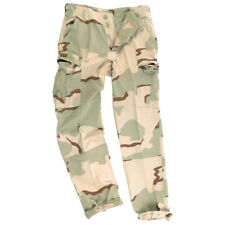 BDU Army Military Combat Ripstop Cargo Trousers 3-Colour Desert Camo : S-XXL