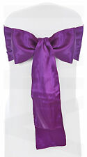 FUCHSIA SATIN CHAIR SASH BOWS SEAT TIES WEDDING VENUE DECORATION PACKS OF 1-200