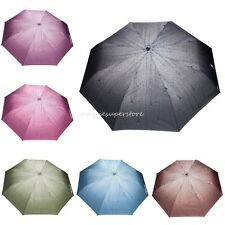 Women Windproof Anti  Clear/Rain Auto-open Raindrops Compact Folding Umbrella