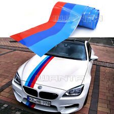 1.5M 2M 3M M-Colored Stripe Car Hood Sticker Decal For BMW M3 M5 X5 3/5/7 Series