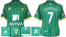 *15 / 16 - ERREA ; NORWICH CITY AWAY SHIRT SS + PATCHES / GRABBAN 7 = SIZE*