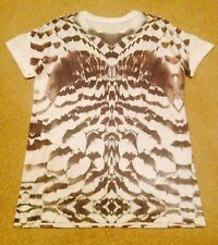 BOYS RIVER ISLAND ABSTRACT PRINT GREY/WHITE/MULTI T SHIRT TOP age 11/12