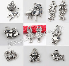 Wholesale Tibet Silver Any Shape Loose Spacer Charms Pendants Jewelry Making DIY