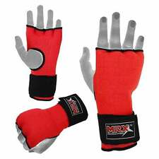 MRX Padded Inner Gel Gloves Boxing Hand Wraps MMA Training Wrist Fight Pair, Red