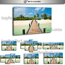 Large Modern Contemporary Wall Art Print On Canvas HD Seascape Beach Picture
