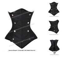 Double Steel Boned Waist Training Faux Leather Underbust Corset #HC8477-DB(FL)