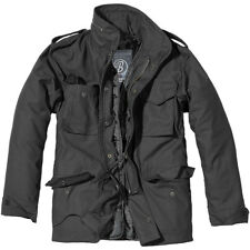 Brandit Mens M65 Classic Security Field Jacket Police Coat Military Parka Black