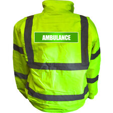 REFLECTIVE AMBULANCE HIGH VISIBILITY BOMBER JACKET HI VIS VIZ SAFETY