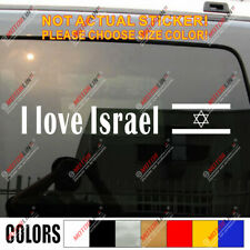 I Love Israel Magen David Shield Jewish Symbol Flag Car Decal Bumper Sticker