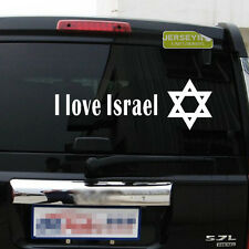 I Love Israel Magen David Shield Jewish Symbol Car Decal Bumper Sticker