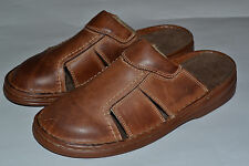 Mens Real Cowhide Leather Slippers Sandal Shoes Handmade In Poland Close Toe New