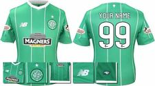 *15 / 16 - NEW BALANCE ; CELTIC AWAY SHIRT SS + PATCHES / PERSONALISED = SIZE*
