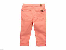 NWT 7 Seven For All Mankind Kids Girls Skinny Crop Roll Jeans Burnt Coral  6X