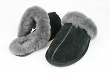 UGG Australia Scuffette II Suede Sheepskin Black Color Slippers Size 7 US
