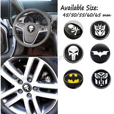 Car Truck Tyre Rim Steering Wheel Center Hub Cap Decal Sticker Alloy Cover 3D 5x