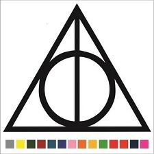 Harry Potter - Deathly Hallows Sticker / Decal - Choose Color and Size