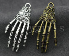 5/20/100pcs Tibetan Silver Beautiful Ghost Hand Jewelry Charms Pendant 42x20mm