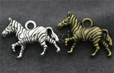 Lot 5/20/100pcs Tibetan Silver Lovely Zebra Jewelry Charms Pendant DIY 31x21mm