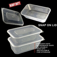 Plastic Containers Tubs Clear With Lids Microwave Food Safe Takeaway SATCO