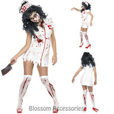 CL565 Zombie Bloody Nurse Horror Scary Halloween Dead Fancy Dress Party Costume