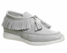 Womens Oki Kutsu Uno Fringe Sneakers OFF WHITE LEATHER Trainers Shoes
