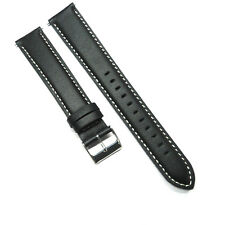 Black 18mm 20mm 22mm 24mm Genuine Leather Watch Strap Band Lengthening Watchband