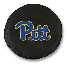 Pittsburgh Spare Tire Cover w/ Panthers Logo - Black Vinyl