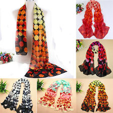 New Fashion Dot Girl Women Long Soft Wrap Lady Shawl Silk Chiffon Scarf Warm