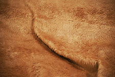 Craft-Toy-Bear Making-TAN BROWN FAKE FUR MATERIAL-Fabric-Metres-SEWING BEE