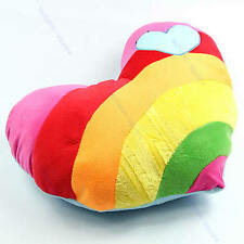Soft Lovely Stuffed Plush Cushion Nap Rainbow Love Throw Heart Pillow Toys