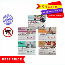Comfortis For Dogs all sizes Chewable Tablets 6 Chews by Elanco Flea Treatment