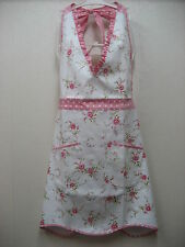 Chic Shabby Floral Dot Cotton Kitchen Apron Tea Party Hostess Retro Vintage Styl