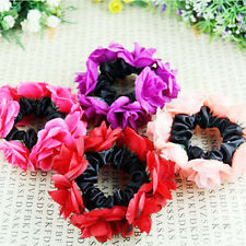 Chic Flower Garland Floral Head Knot Hair Top Scrunchie Band Elastic Bracelet
