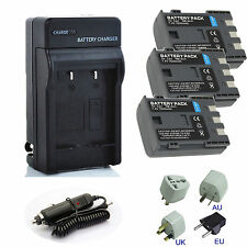 NB-2L NB-2LH Battery or Charger for Canon Elura 40MC/70/80/85/90 DC420 S80 HV40