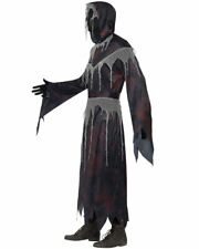 CL586 Mens Grim Reaper Scary Horror Robe Death Halloween Fancy Dress Up Costume