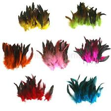 50pcs Beautiful Rooster Feathers Fringe Decoration Home Craft DIY 4 - 7 inches