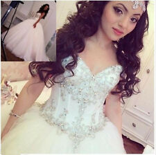 Hot Princess Crystal Ball Gown Wedding Dresses Bling Sparkly Bridal Gowns Custom