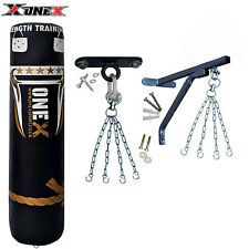 New 5ft Heavy Filled Boxing Punch Bag Set,Ceiling Hook,Bracket,Chains MMA