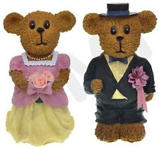 GORGEOUS BRIDE & GROOM TEDDY BEAR CERAMIC MONEY BOX FAVOURS WEDDING GIFT PRESENT