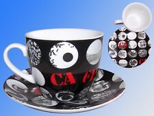 Coffee Cup with saucer 6.8oz, coffee Motif, Porcelain cup