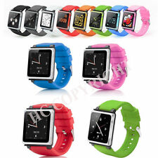Good Quality Candy Color Watchband Silicone Case Strap for iPod Nano 6 6th Gen
