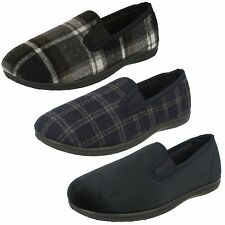 Mens Clarks King Twin Fabric Classic Twin-Gusset Slippers