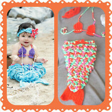 Baby Mermaid Outfit, crochet, halloween, costume, photo, prop set, shower gift B