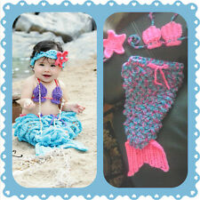 Baby Mermaid Outfit, crochet, halloween, costume, photo, prop set, shower gift E