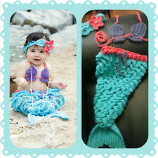 Baby Mermaid Outfit, crochet, halloween, costume, photo, prop set, shower gift F